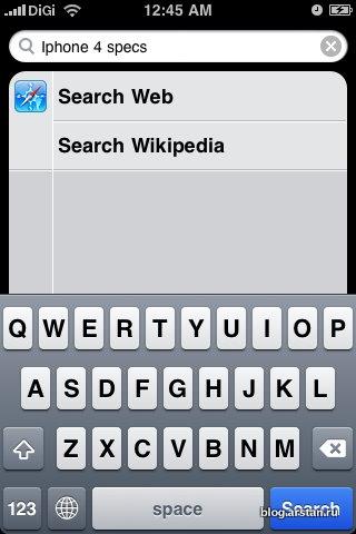 поиск на iOS4
