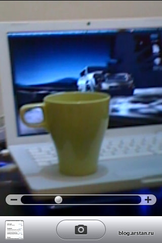 Зум камеры на iOS4