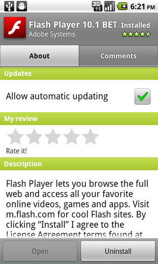 auto update feature in android 2.2 Froyo
